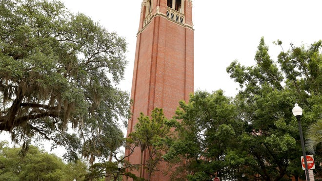 Century Tower is still ringing but their are no student to hear it at the University of Florida campus, which all but shut down completely due to COVID-19, in Gainesville, Fla. April 8, 2020.