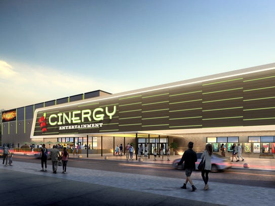 An artist's rendering shows a proposed Cinergy entertainment