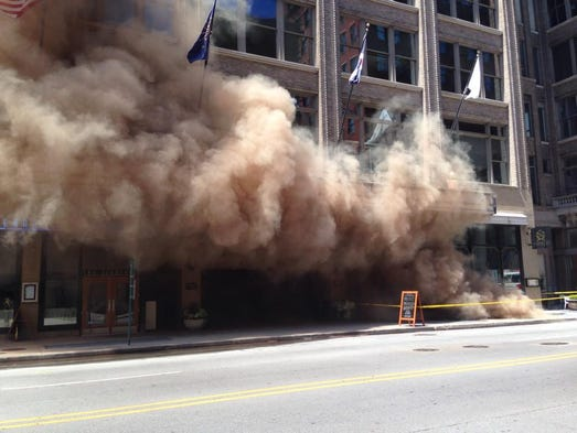 IFD is responding to an underground transformer explosion at Meridian Maryland in Downtown.