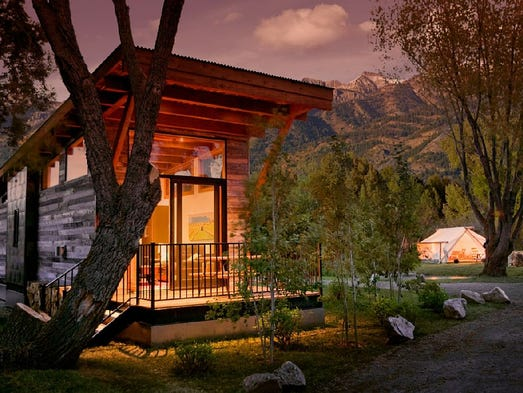 This cabin in  Wilson, Wyo., sleeps four and rents from $289 per night. For more information: http://www.homeaway.com/vacation-rental/p608898vb