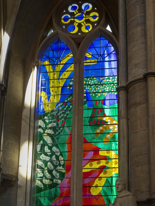 The Queen's Window By David Hockney Is Revealed At Westminster Abbey