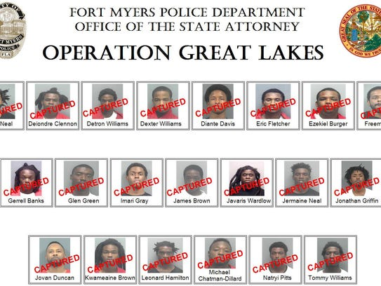 """""""Operation Great Lakes"""" resulted in 21 arrests."""