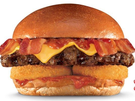 carl's bacon burger