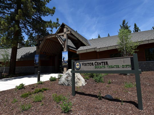 The new visitor center is seen at the Donner Memorial State Park near Truckee, Calif., on June 3, 2015.