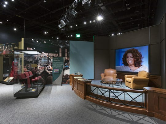 "The ""Oprah Winfrey Show"" section of the exhibit in"