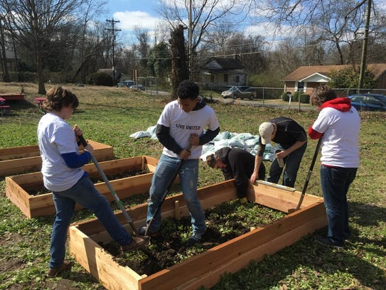 The community garden project fits well with the United