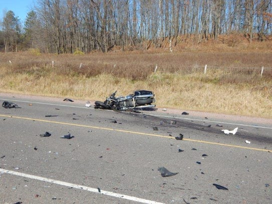 The driver and passenger of this motorcycle died of
