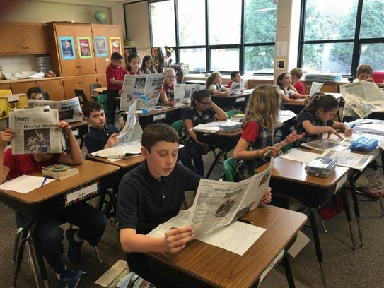 Students in 4G at St. John Vianney kicked off their