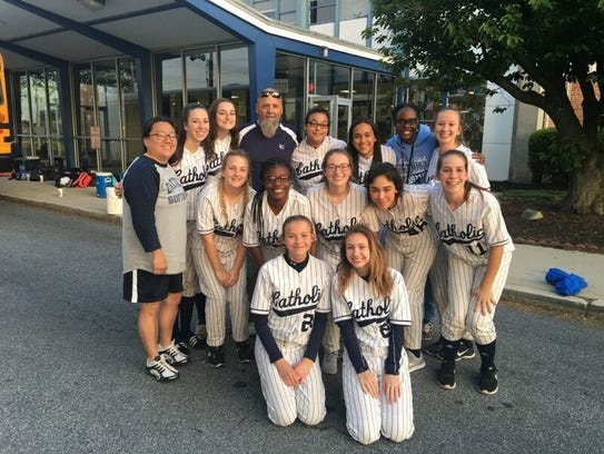 The Lebanon Catholic softball team broke a 105-game