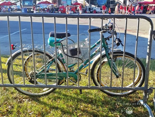 Don't want to waste gas? Ride your bike to the game