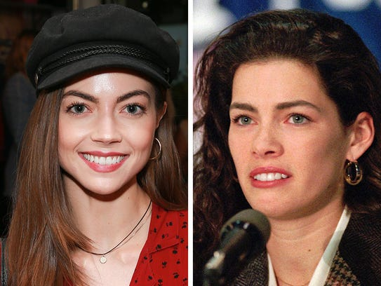 Caitlin Carver, left,and Nancy Kerrigan