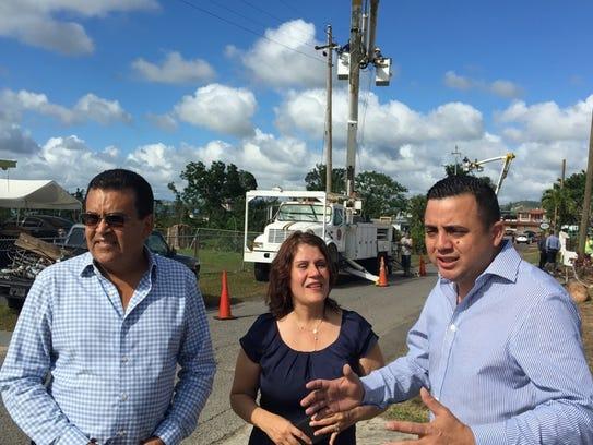 Perth Amboy Mayor Wilda Diaz surveys damage in Puerto