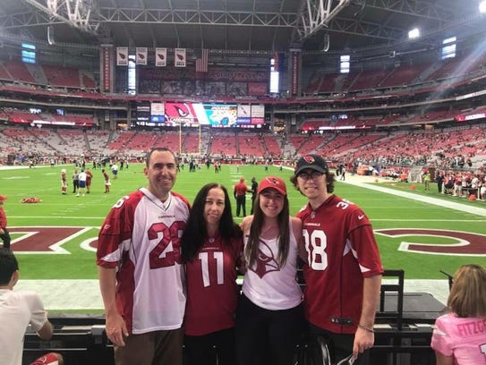 The Demas family posed for this photo at a 2017 Cardinals