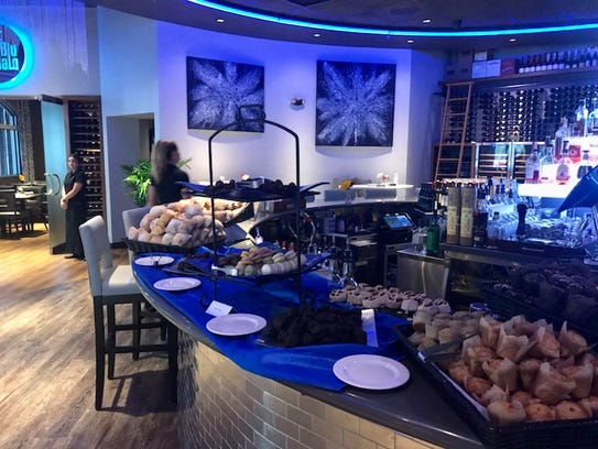 Blu Halo presents a lavish buffet featuring a carving