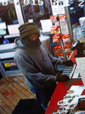 Lancaster police are searching for a man believed to be connected to multiple gas station thefts and a robbery that occurred on Nov. 26 and Nov. 28.