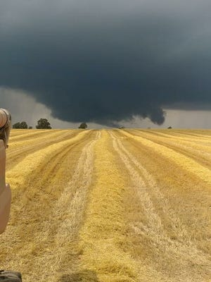 Canandaigua farmer Don Miller took this photo of a possible funnel cloud on Sunday afternoon.
