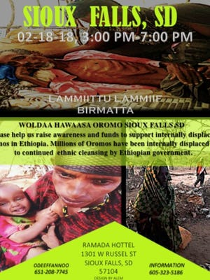 A poster for a fundraising event for the Oromo people of Ethiopia