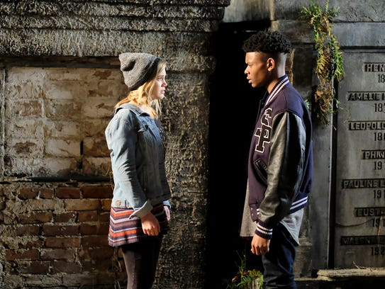 Olivia Holt as Tandy and Aubrey Joseph as Tyrone on