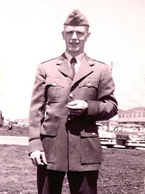 Richard Kibbey was stationed at Lowry Air Force Base in Denver, Colorado, in this 1958 photo.