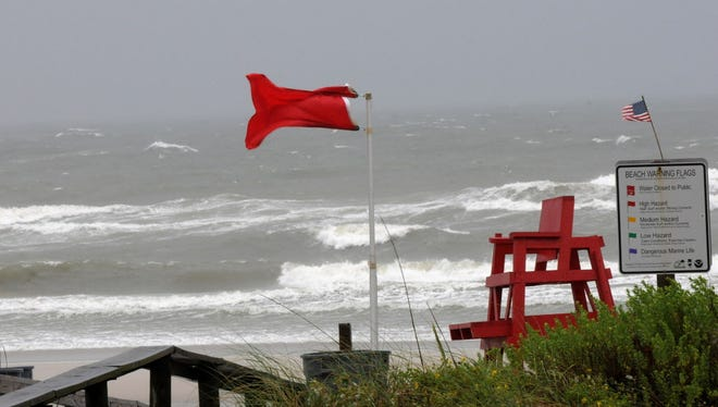 Wind, rain and heavy surf hit Atlantic Beach, Fla., as Tropical Storm Andrea moved into Florida in June 2013. Andrea was one of the few tropical storms to impact the USA last year.