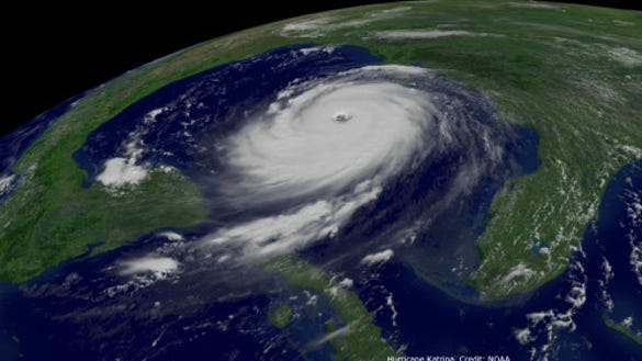 Hurricane Katrina in 2005 (Source: NOAA)