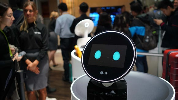 CLOi is a new concept robot shown off by LG at the Consumer Electronics Show
