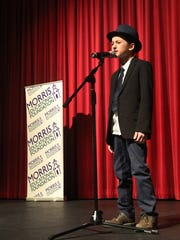 Evan Boncelet, age 10, one of Morristown's Got Talent finalists in the competition held at Morristown High School on Saturday.