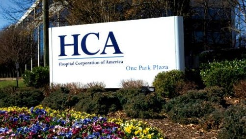 A sign at Hospital Corporation of America's headquarters in Nashville, Tennessee, is shown in this 2013 photo.