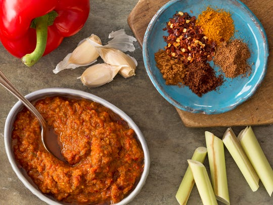 Rendang curry is a Malaysian curry made from chilies,