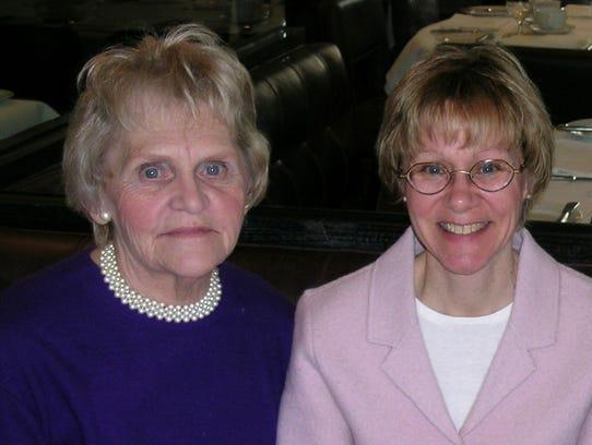 Susan Patrick's mother, Carol Blink (left), encouraged