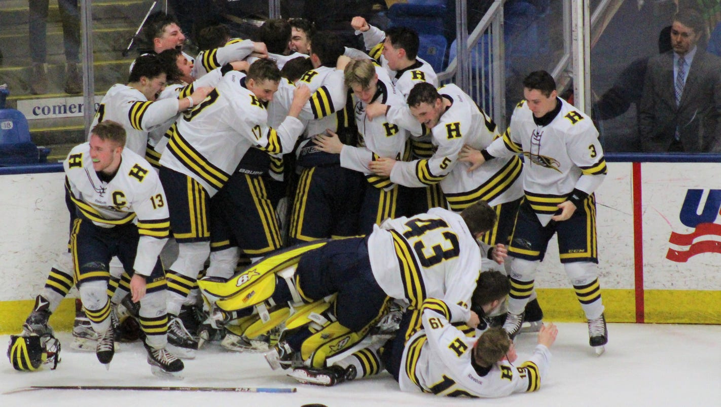 Division 2: Hartland downs Trenton, 4-2, for first state hockey title