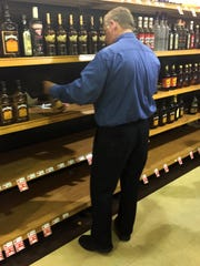 The manager of the Marsh Supermarket on Broad Ripple  and Keystone Avenue said customers swooped in so fast, he didn't have time to post reduced prices in the liquor section.