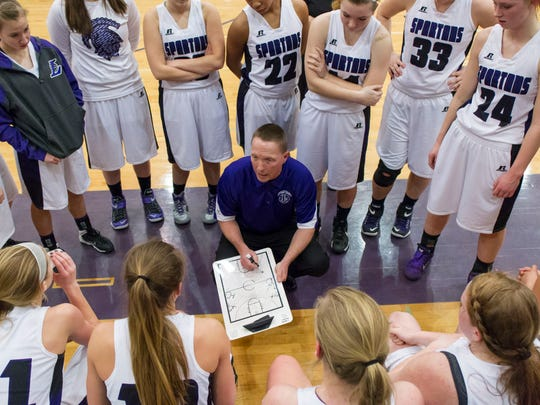 Lakeview head coach, Don Bussler, speaks to his team