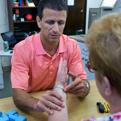 Physical therapist Michael Santamaria, owner of Shore