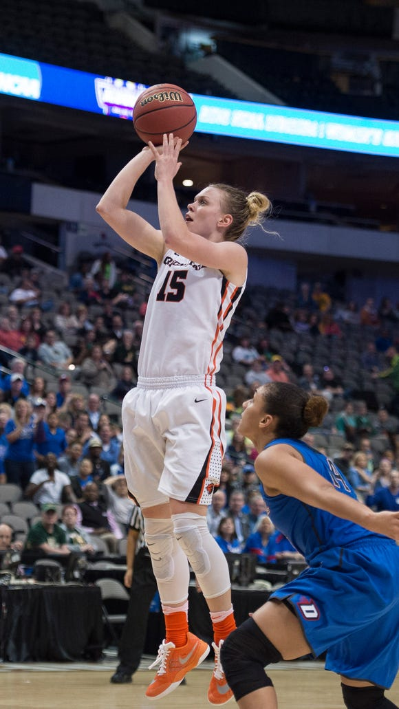 Oregon State guard Jamie Weisner scored a career-high 38 points in the Beavers' 83-71 victory over DePaul in the Sweet 16.