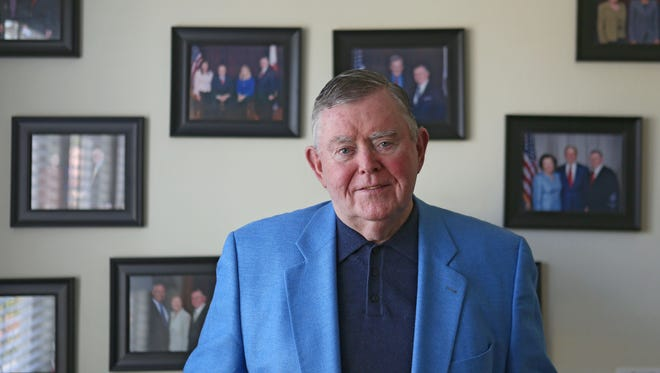 Pat Mullany, former FBI criminal profiler and former Indian Wells councilman, is photographed at his Indian Wells home. Mullany died Wednesday morning at 81.