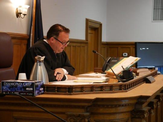 Dutchess County Judge Edward McLoughlin in court Monday.