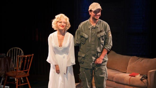 Alison Janes as Marilyn and Adam Meyer as Tim
