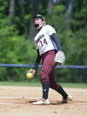 Snow Hill's Hailey Farlow has been a reliable force in the circle for the Eagles.