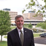Oakland University President George Hynd, shown in a 2014 photo, says a 3.95% tuition increase is needed.