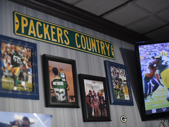 Green Bay Packers fans watch the season opener against the Seattle Seahawks at Blue 42 in Elmwood Park, NJ on Sunday, September 10, 2017.