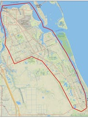 Boundary of natural gas outage area