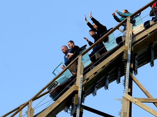 Roller coaster enthusiasts and members of the media