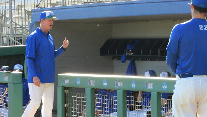 UWF baseball coach Mike Jeffcoat and his team will attempt to end a five-game losing streak this week when hosting Columbus State in a two-game series starting Tuesday at UWF.