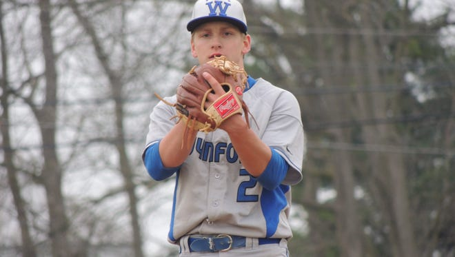 Wynford senior Qyenton Stone threw a two-hit shutout against the Bucyrus Redmen to clinch the Northern 10 Conference title for the Royals.
