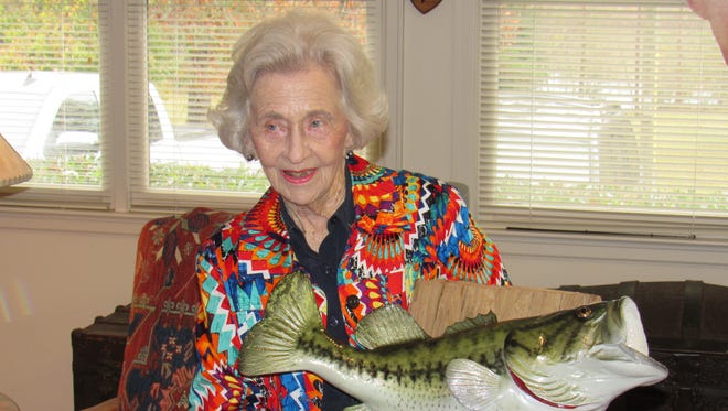 89-year-old Vera Brown caught a passel of fish during her first fishing trip.