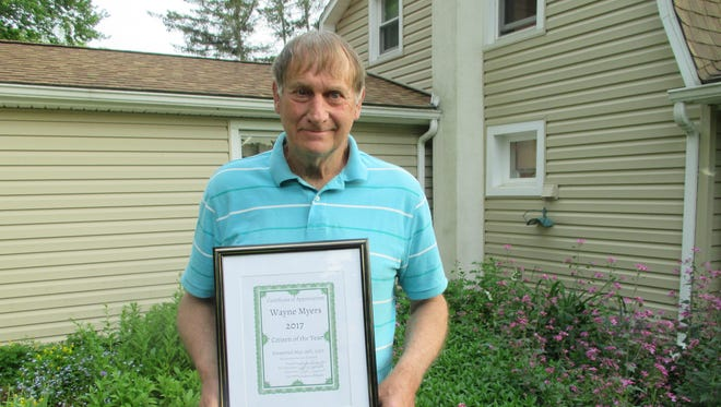 Wayne Myers  was named Citizen of the Year by the Spencer Senior Citizens Club.