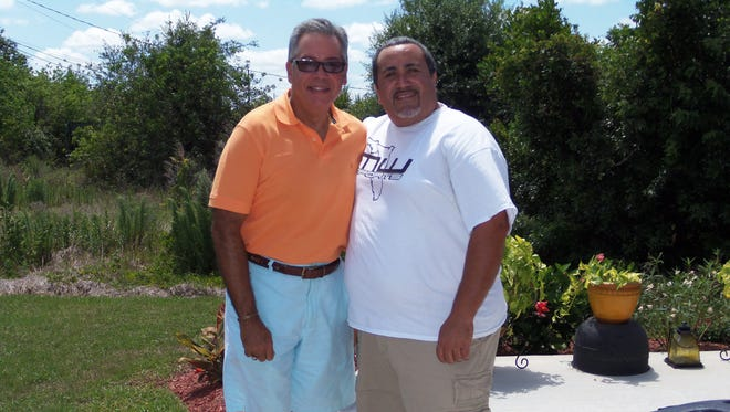 PSL Hispanic American Club's Dr. Robert Calderin  and Most Wanted Kreationz President Tony Hernandez are concerned about hurricane relief for Puerto Rico.