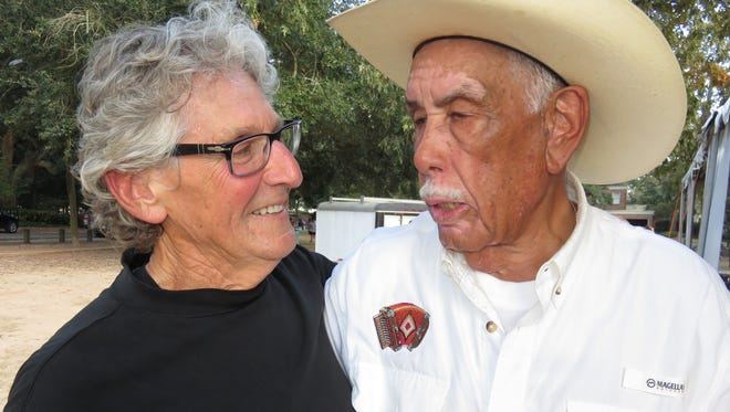 """Former state poet laureate Darrell Bourque, left, and Creole musician Goldman Thibodeaux are among the familiar faces in the new book, """"Creoles of South Louisiana: Three Centuries Strong."""" Both are descendants of Theodule Thibodeaux, who was born in 1832 in Grand Coteau."""