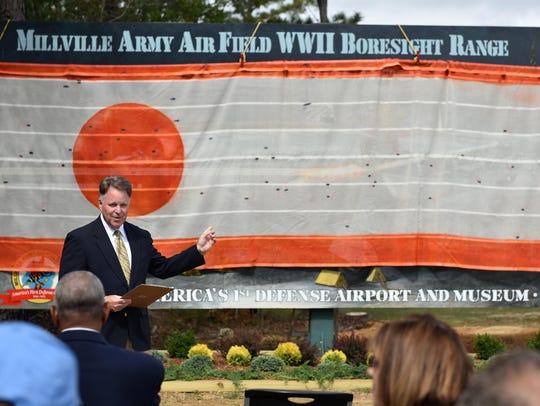 Chuck Wyble, president of the Millville Army Air Field